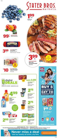 Catalogue Stater Bros. from 07/29/2020