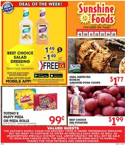 Catalogue Sunshine Foods from 05/19/2021