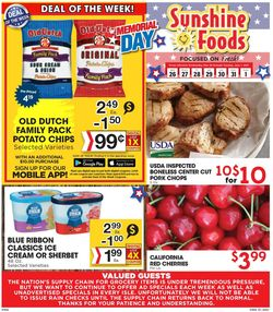 Catalogue Sunshine Foods from 05/26/2021