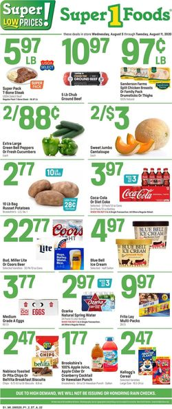 Catalogue Super 1 Foods from 08/05/2020