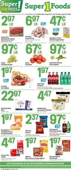 Current weekly ad Super 1 Foods