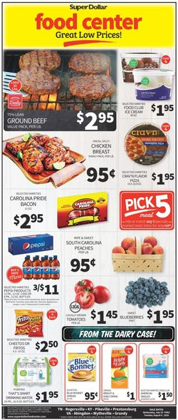 Catalogue Super Dollar Food Center from 07/29/2020