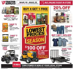 Catalogue Tractor Supply from 03/18/2020