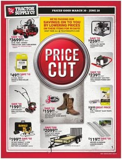 Catalogue Tractor Supply from 03/30/2020