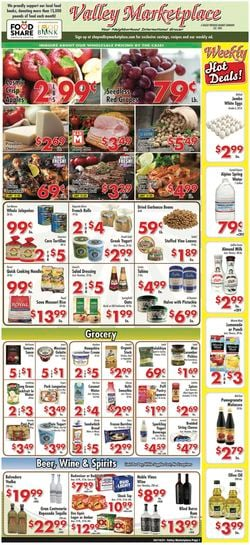Current weekly ad Valley Marketplace