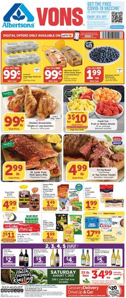 Current weekly ad Vons