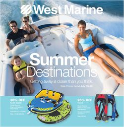 Catalogue West Marine from 07/16/2020