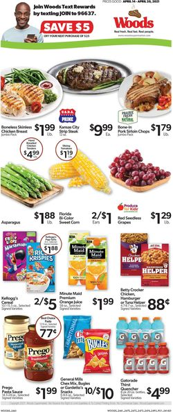 Current weekly ad Woods Supermarket