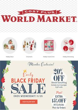 Current weekly ad World Market