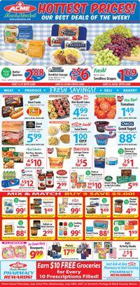 Catalogue Acme Fresh Market from 07/22/2021