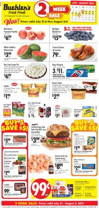 Catalogue Buehler's Fresh Foods from 07/21/2021