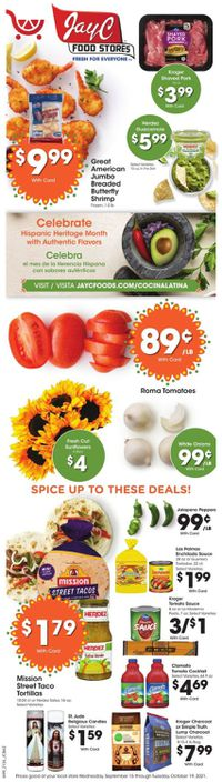 Catalogue Jay C Food Stores from 09/15/2021