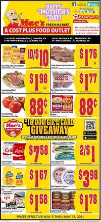 Catalogue Mac's Freshmarket from 05/05/2021
