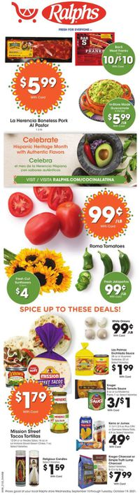Catalogue Ralphs from 09/15/2021