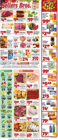 Catalogue Sellers Bros. from 09/22/2021