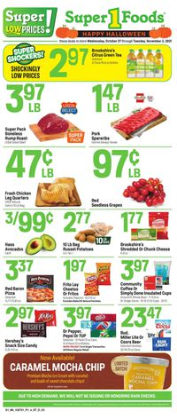 Catalogue Super 1 Foods from 10/27/2021