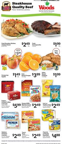 Catalogue Woods Supermarket from 09/15/2021